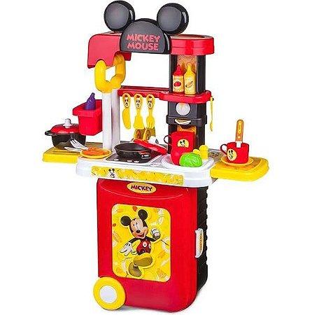 Cozinha Infantil Mickey 3 Em 1 Maleta Preto Multikids