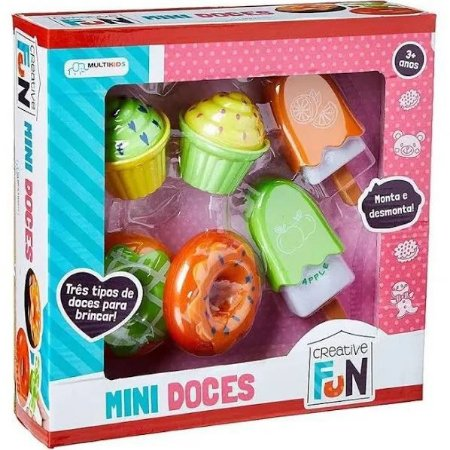 Mini Doces Creative Fun Monta E Desmonta Multikids Br601