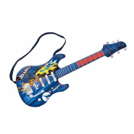 Guitarra Infantil Hot Wheels Fun Radical Com Cabo Função Mp3