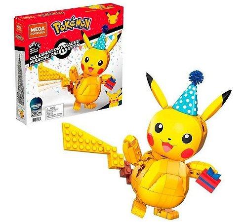 Blocos De Montar Pokémon Pikachu Com 280 Peças Mattel GWY76