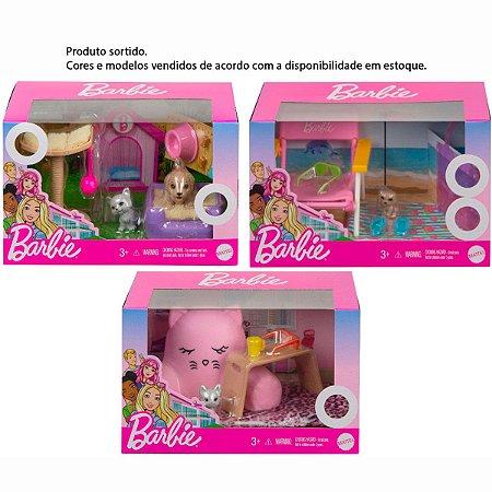 Conjunto Barbie Pets Móveis/Acessórios SORTIDOS Mattel GRG56