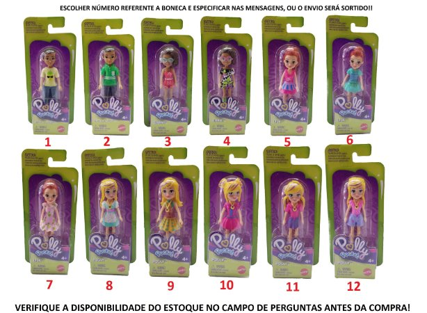 Boneca SORTIDA Polly Pocket Doll Assortment 9cm Mattel FWY19