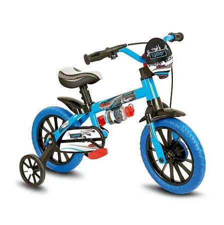 Bicicleta Infantil Com Rodinha e Garrafa Aro 12 Veloz Nathor