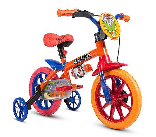 Bicicleta Infantil C/ Rodinha Garrafa Aro 12 PowerRex Nathor