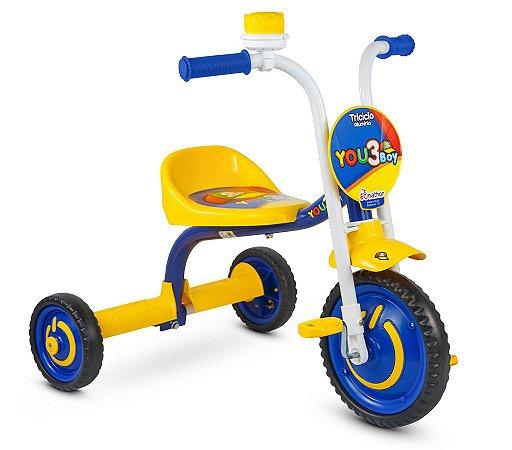 Triciclo Infantil Motoca Pedal c/Buzina em Alumínio Nathor