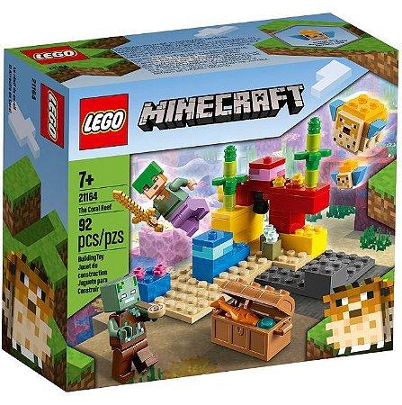 Blocos de Montar Lego Minecraft Recife de Coral 21164 92Pçs