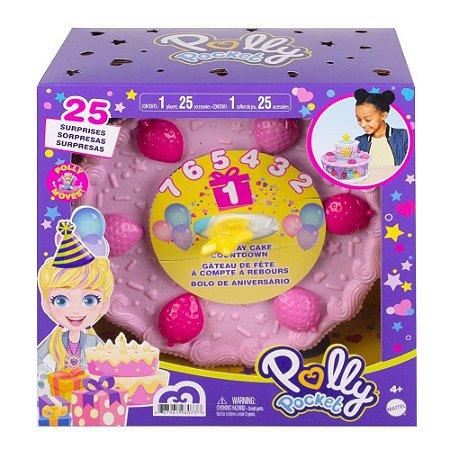 Polly Pocket Bolo De Aniversário Com Surpresas Mattel GYW06