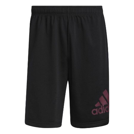 Shorts Adidas Preto Knit Logo Grande