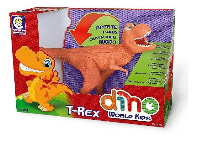 Dinossauro Amigo T-rex Som em Vinil Mundo Kids Cotiplás 2223