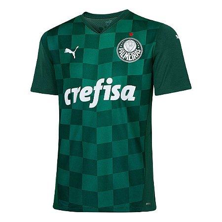 Camisa Palmeiras I 21/22 sn° Torcedor Puma Masculina Verde