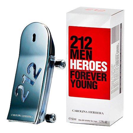 Perfume 212 Heroes Masculino Carolina Herrera EDT 50ml