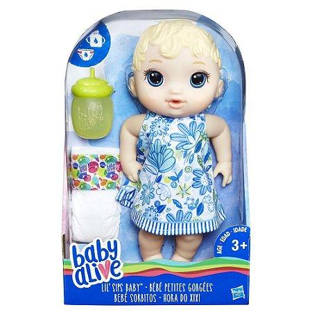 Brinquedo Boneca Baby Alive Hora do Xixi Loira E0385 -Hasbro