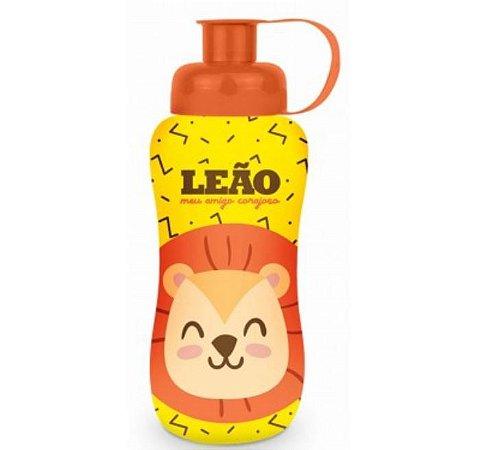 Squeeze Garrafinha Infantil Refil 550ML Plástica Tema Leão