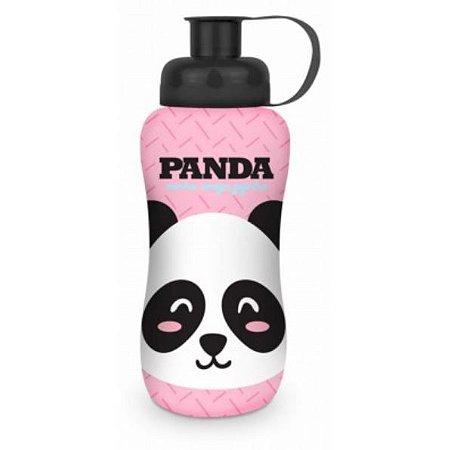 Squeeze Garrafinha Infantil Refil 550ML Plástica Tema Panda