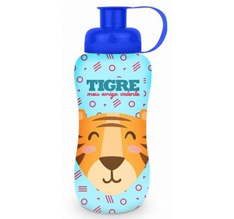 Squeeze Garrafinha Infantil Refil 550ML Plástica Tema Tigre