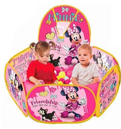Piscina De Bolinha Minnie Disney 100 Bolinhas Com Cesta