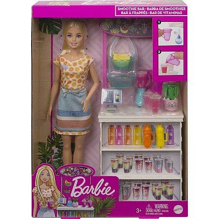 Boneca Barbie Conjunto De Sucos Tropicais Grn75 - Mattel