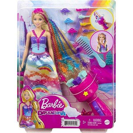 Boneca Barbie Princesa Tranças Dreamtopia  Magicas