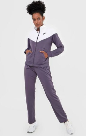 Agasalho Nike Sportswear Conjunto Trk Suit Pk Roxo/Branco