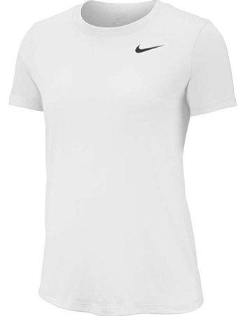 Camiseta Nike Branca Dry Leg Tee Crew Feminina Aq3210