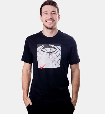 Camiseta NBA Nike Hbr Photo Masculina Preto