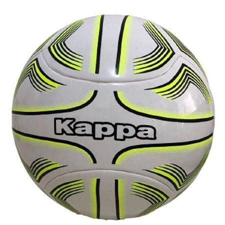 Bola de Futsal Kappa em Poliuretano Branca e Amarela