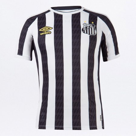 Camisa Santos Ii 21/22 S/n° Torcedor Masculina Branco Preto