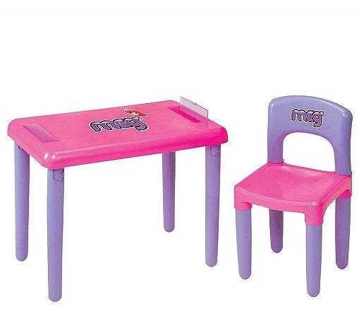 Mesa Mesinha Rosa Infantil Para Atividade Menina