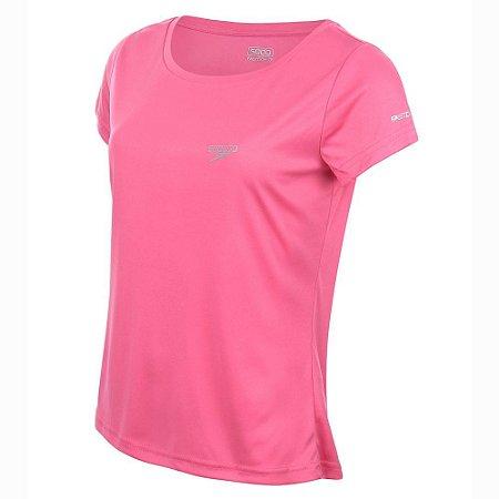 Camiseta Tshirt Feminina Speedo Interlock Canoa Rosa