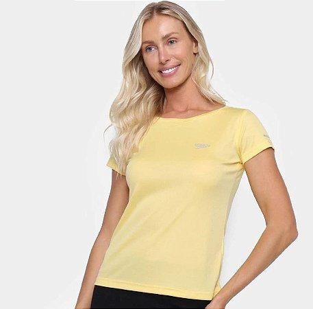 Camiseta Speedo Interlock Canoa Feminina  Amarela