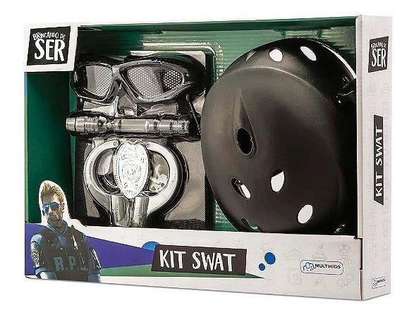 Brincando De Ser Kit Policia Swat Com Oculos Multikids Br966