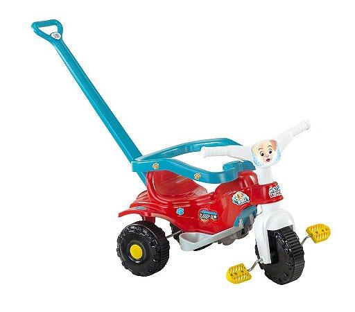 Triciclo Motoca Infantil Tico Tico Pets Azul Magic Toys 2810