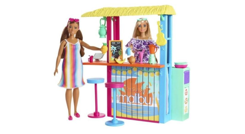 Playset Barbie Malibu Eco Quiosque De Praia Mattel