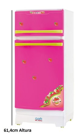 Brinquedo Geladeira Infantil Moranguita c/Acessórios Rosa