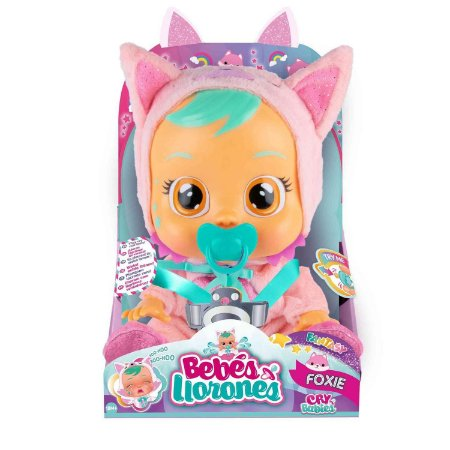 Boneca Cry Babies Fantasy Foxie Chora de Verdade Multikids