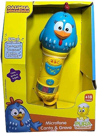 Microfone Canta e Grava - Galinha Pintadinha - Yes Toys