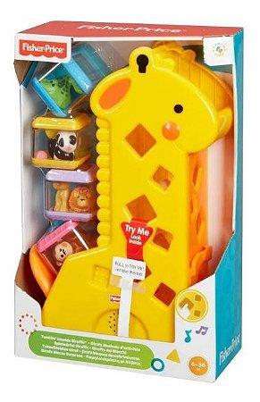 Brinquedo Didático Girafa Divertida c/Blocos Fisher Price