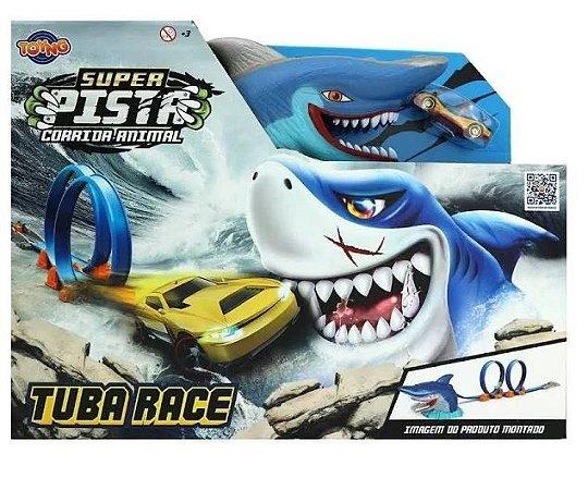 Super Pista Corrida Animal Tubarão Tuba Race 2 Looping Toyng