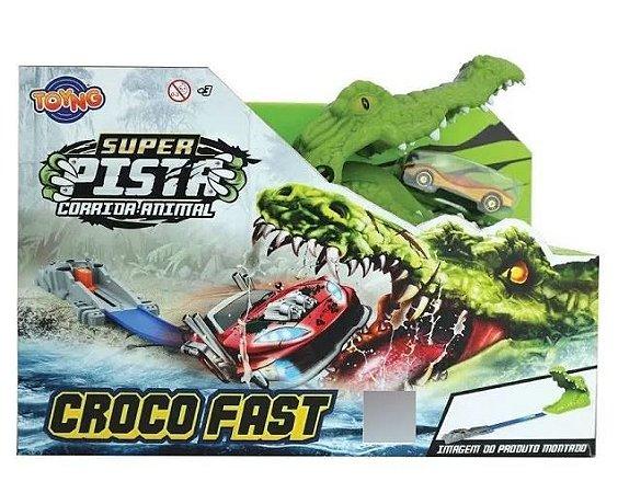 Super Pista Corrida Animal Crocodilo Toyng
