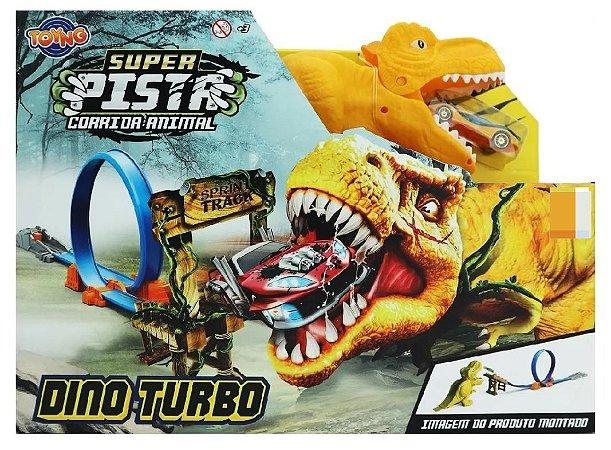 Brinquedo Super Pista Corrida Animal Dinossauro Turbo 43372