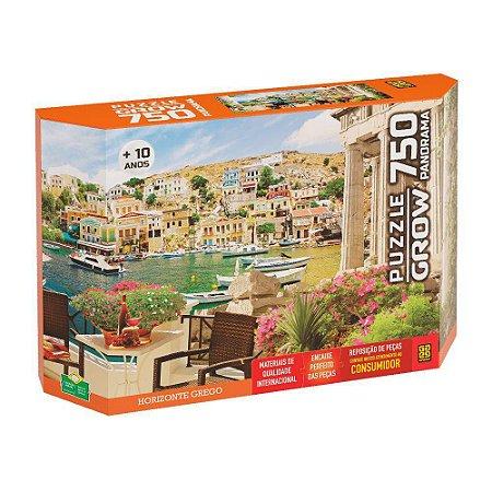 Quebra cabeça 750 Peças Horizonte Grego Puzzle da Grow 04055
