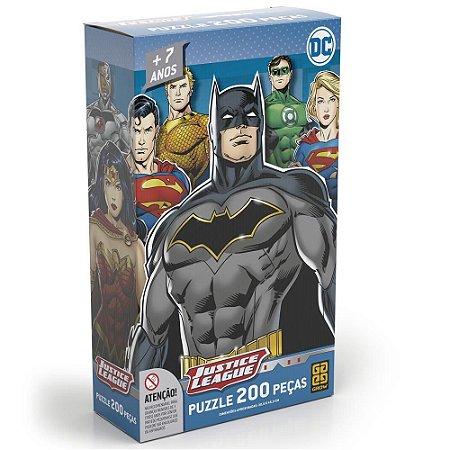 Quebra cabeça 200 Peças Liga da Justiça DC Grow 03808