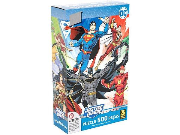 Quebra-cabeça 500 Peças Heróis DC Comics 03928