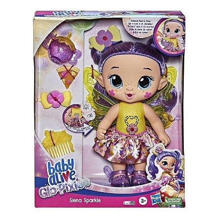Boneca Baby Alive Glo Pixies Siena Sparkle Infantil Hasbro
