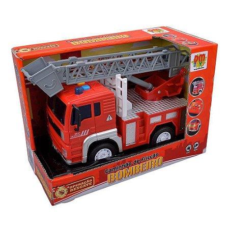 Caminhão de Bombeiro Realista Com Som e Luz Dm Toys 5698