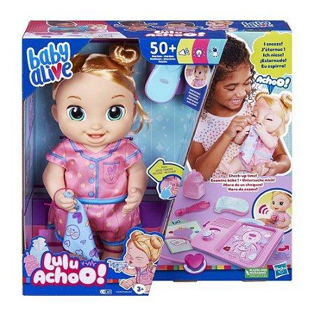 Boneca Baby Alive c/mecanismo Lulu Achoo Loira +50 reações