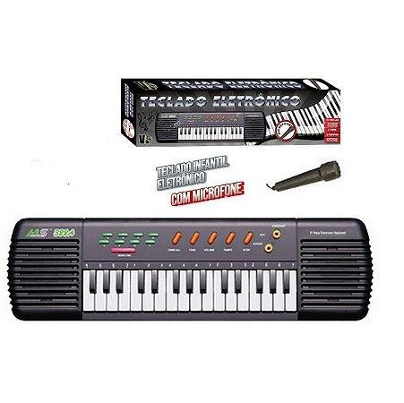Brinquedo Teclado Infantil Eletrônico c/Microfone VB641 VIP