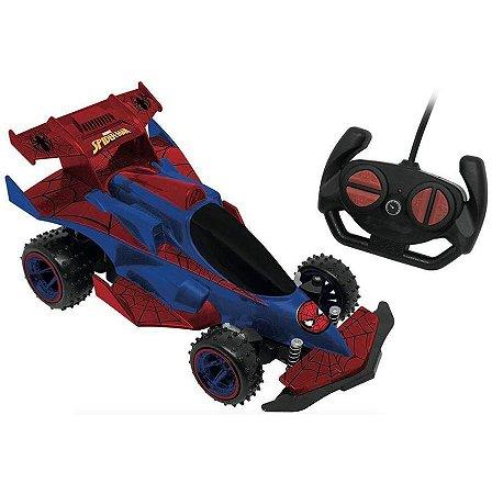Carrinho Controle Remoto SpiderMan Marvel Web Runner Candide