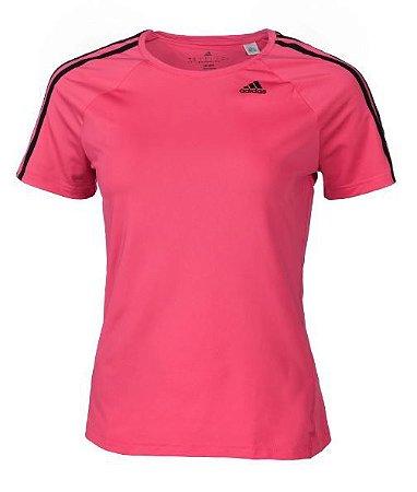 Camiseta Feminina Adidas D2M Tee 3S Pink TAM P
