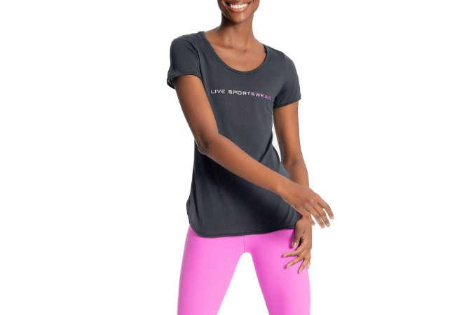 Camiseta Feminina Long Action Essential Live!